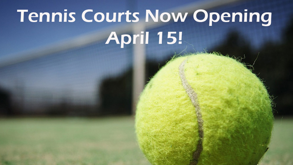 Tennis Court Application Now Available